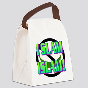 I SLAM ISLAM(white) Canvas Lunch Bag